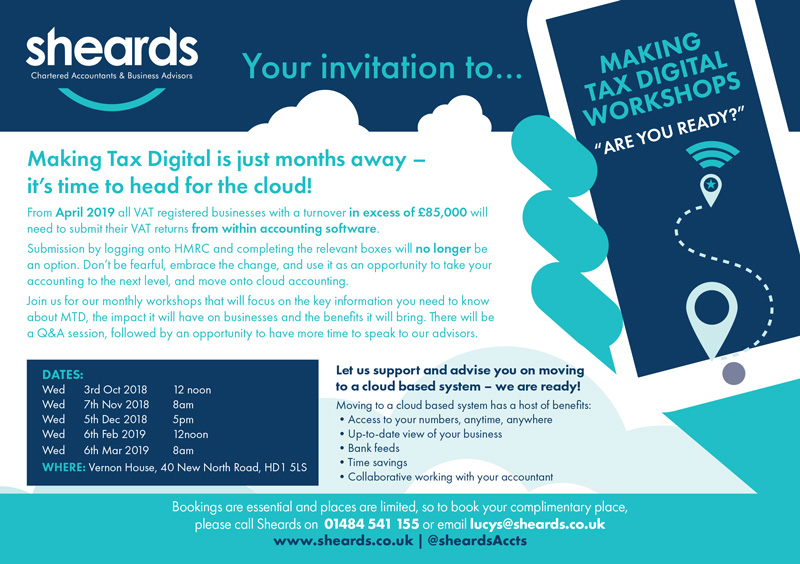 Your Invitation to our Making Tax Digital Workshops - Are you Ready